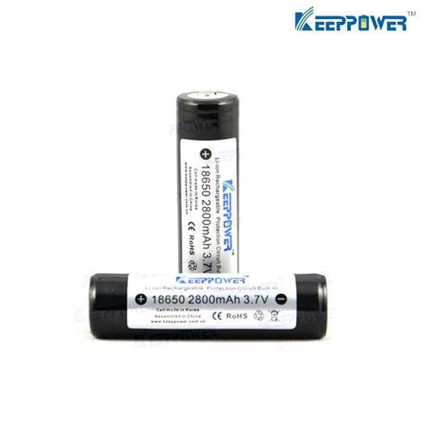 KeepPower 18650 2800mAh 3.7V Skyddad Uppladdningsbart Li-Ion Batteri Ficklampor