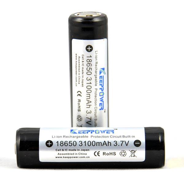 KeepPower 18650 3100mAh 3,7 V Geschützte Lithium Ionen Akku Taschenlampe