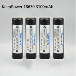 KeepPower 18650 3100mAh Protected Rechargeable Li-Ion Battery 4PCS