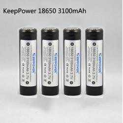 KeepPower 18650 3100mAh geschützte Lithium Ionen Akku 4PCS