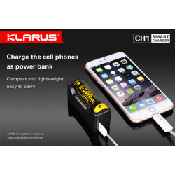 Klarus CH1 Li-ion NI-MH Batterifunktionsindikator Power Bank Laddare