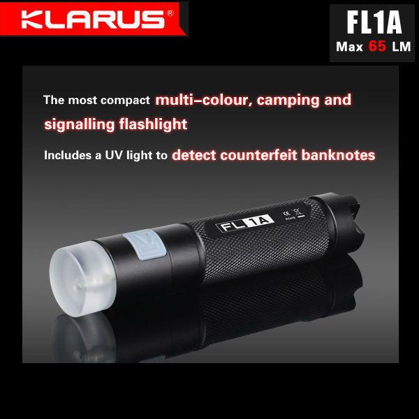 Klarus FL1A CREE XP-G2 65LM Multifuctional Utomhus EDC LED Ficklampa Ficklampor