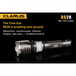Klarus RS20 CREE XM-L2 1050lm Multicolor Rechargeable LED Flashlight