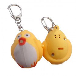 LED Luminous Voice Cuckoo Flashlight Key Chain Color Optional