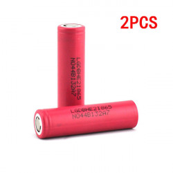 LG18650HE2 2500mAh 3.7v 30A Rechargeable Li-on Battery 2PCS