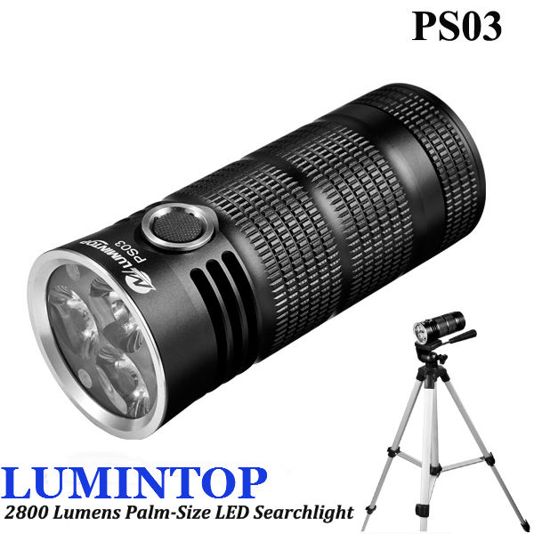 LUMINTOP PS03 3xXM-L2 U2 2800LM Palm-storlek LED Searchlight Ficklampor