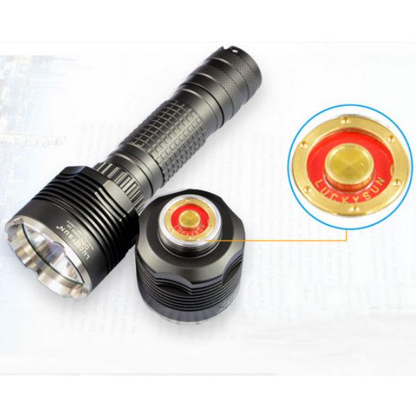 Luckysun D80 CREE XM-L2 1100LM Tactical LED Flashlight 18650 Flashlight