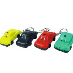 Lysande Ljud Cartoon Car LED Nyckelring Färg Tillval