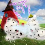Lysande Ljud Cartoon Dalmatiner Gift LED Nyckelring Hänge Ficklampor