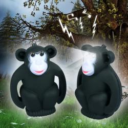 Lysande Ljud Gullig Gorilla Hängande LED Nyckelring