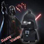 Lysande Ljud Darth Vader LED Nyckelring Svart Ficklampor