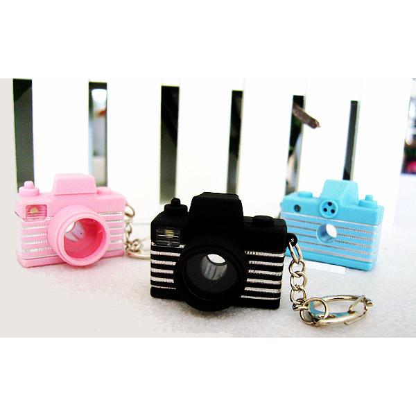Lysande Ljud Mini Kamera LED Nyckelring Färg Tillval Ficklampor