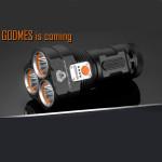 Manker GODMES 3 * Cree XP L 3000LM Bluetooth APP Kontroll LED Taschenlampe Taschenlampe