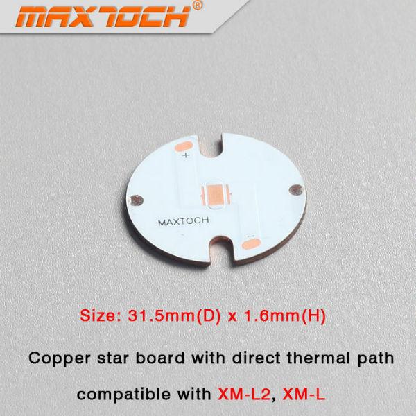 MAXTOCH CREE XM L2 XM L Thermodirekt Pfad Kupfer Vorstand 31.5x1.6mm Taschenlampe