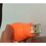 Mini USB Dator LED-ljus USB Lysande Natt Letters Ljus Ficklampor