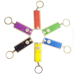 Multicolor Optional Mini Portable Flashlight Key Chain LED Key Buckle
