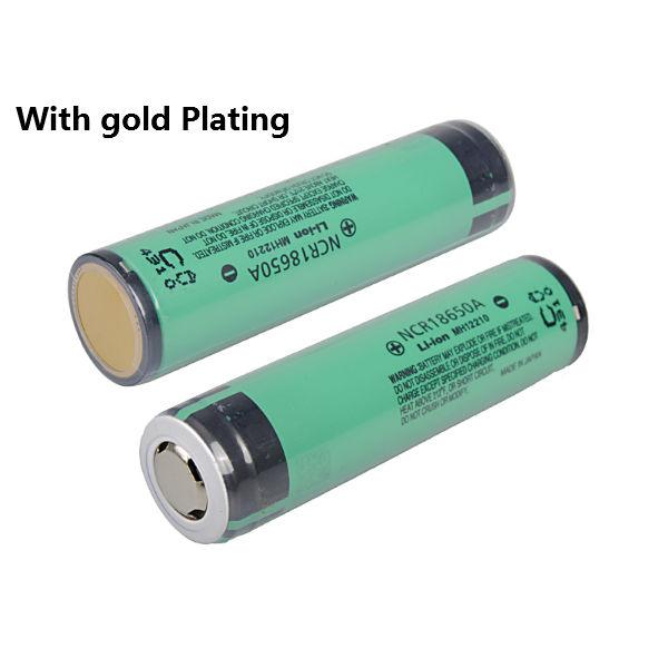 NCR18650A 3100mAh 3.7v Gold Plating Uppladdningsbart Li-ion Batteri Ficklampor