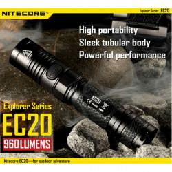 NiteCore EC20 CREE XM L2 T6 960LM Outdoor Adventure LED Taschenlampe
