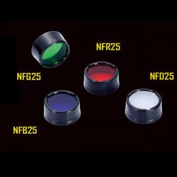 NITECORE NFR25 NFB25 NFG25 NFD25 Diameter 25mm Multicolour Filter