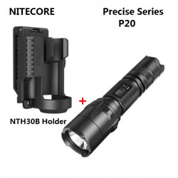 NITECORE P20 CREE XM-L2 T6 Tactical LED Ficklampa + NTH30B Holder