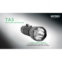 NEXTORCH TA3 Cree XM-L 550LM 18650 Rescue Jakt LED Ficklampa