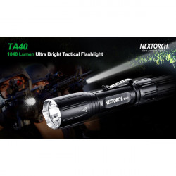 Nextorch TA40 Cree XM-L2 U2 18650 CR123A USB Charging LED Flashlight