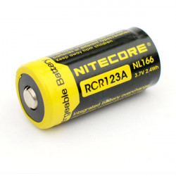 NiteCore NL166 RCR123A 650mAh Rechargeable Li-ion Battery