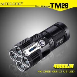 NiteCore TM26 4x CREE XM L2 U3 4000LM LED Taschenlampe 2015