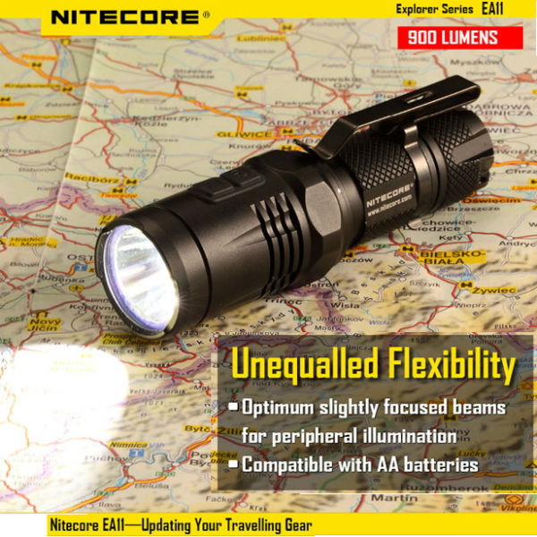 Nitecore EA11 CREE XM-L2(U2) 900lm Compact EDC Flashlight Flashlight