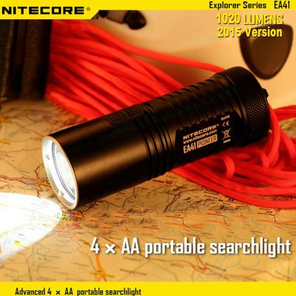 Nitecore EA41 CREE XM-L2 U2 1020lm Upgarde2015 LED Ficklampa Ficklampor