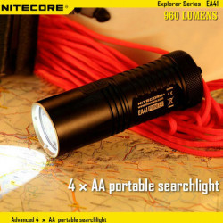 NiteCore Ea41 CREE XM L2 U2 960LM Neutral weiße LED Taschenlampe