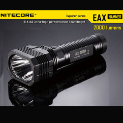 Nitecore EAX Hammer 2xCREE XM-L2 T6 2000LM LED Searchlight 8xAA