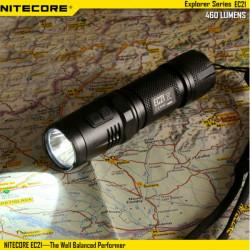 Nitecore EC21 CREE XP-G2 (R5) 460lm EDC LED Ficklampa + Röd Light