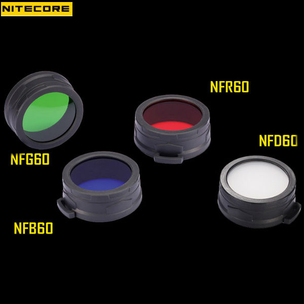 Nitecore Filter Diffuser 60mm Four Colors For TM11/TM15/MH40 Flashlight