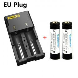 Nitecore I2 Universal Charger + 2x KeepPower 14500 800mAh Battery