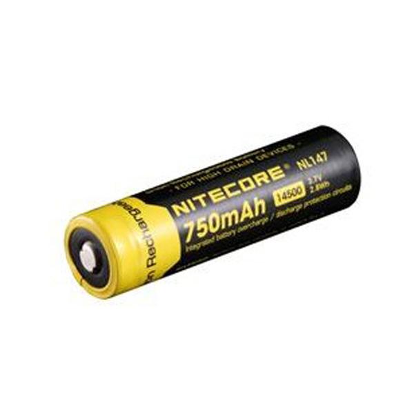 Nitecore NL147 14500 750mAh 3.7V Li-ion Rechargeable Battery Flashlight