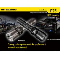 Nitecore P25 Smilodon Cree XM-L U2 860Lm Tactical LED Flashlight