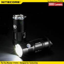 Nitecore TM06 4x CREE XM-L2 U2 3800LM Tactical LED Flashlight