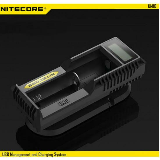 Nitecore UM10 USB Power LCD Intelligent Li-ion Battery Charger 2021