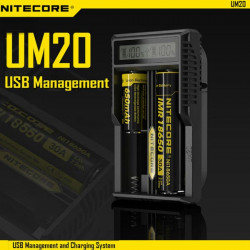 Nitecore UM20 USB Power LCD Intelligent Li-ion Batterioplader