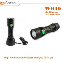 ORCATORCH WR10 CREE XM-L2(U2) 950LM Wireless Charging LED Flashlight