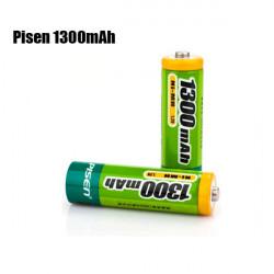 Pisen 1300mAh 1.2V wiederaufladbare Ni MH AA Batterie 2Pcs