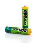 Pisen 600mAh 1.2V AAA 1000 Cykler NI-MH Uppladdningsbara Batterier 2PCS Ficklampor