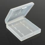 Plastic Hard White Battery Case Storage Box for 4x14500/AAt Flashlight