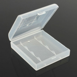 Plastic Hard White Battery Case Storage Box for 4x14500/AAt