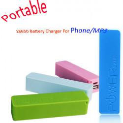 Bärbar Mobile Power USB 18650 DIY Batteriladdare för Phone MP3