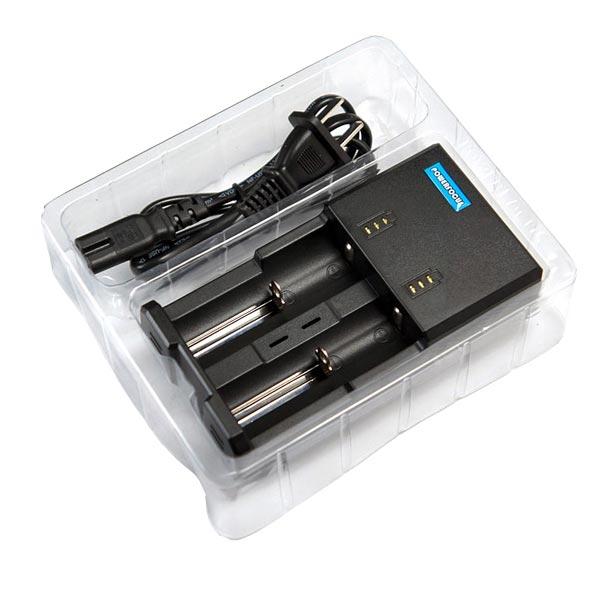 Powerfocus I2 Pro Batteriladdare för Li-ion Ni-MH Ni-CD med Kabel Ficklampor