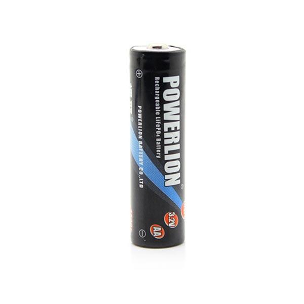 PowerLION AA / 14500 650mAh 3.2V wiederaufladbare Batterie LiFePO4 Taschenlampe