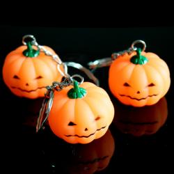 Pumpa Bright Light LED Nyckelring Halloween Toy