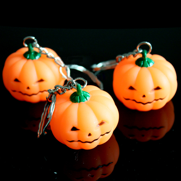 Pumpa Bright Light LED Nyckelring Halloween Toy Ficklampor